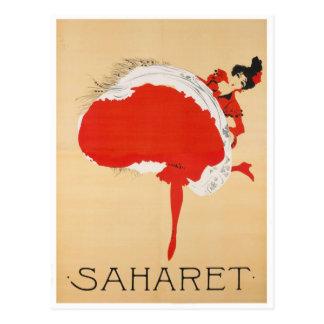 Affisch för Saharet fransk art nouveaupublicitet Vykort