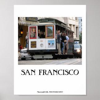 Affisch för San Francisco kabelbil!