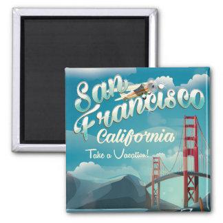 Affisch för San Francisco semestervintage resor Magnet