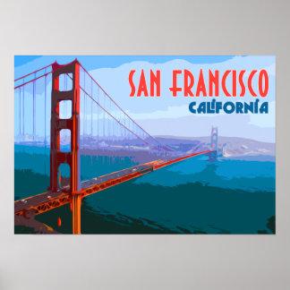 Affisch för San Francisco vintage resorkonst
