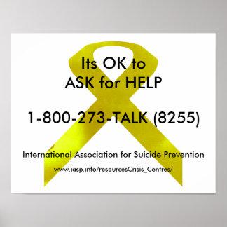 Affisch för självmordmedvetenhethjälp