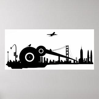 Affisch för Sparrowstadsflygplan Poster
