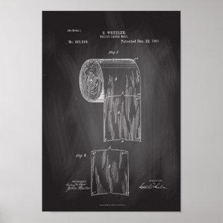Affisch för svart tavla för tryck för patent för