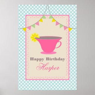 Affisch för Teapartyfödelsedag Poster