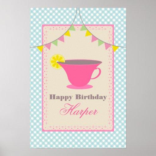 Affisch för Teapartyfödelsedag