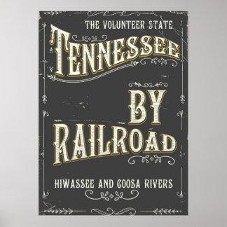 Affisch för Tennessee USA vintagejärnväg Poster