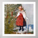 Affisch för tryck för Carl Larsson julgrankonst
