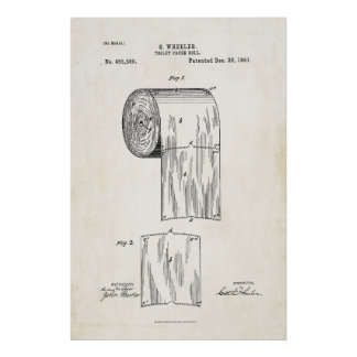 Affisch för tryck för patent för