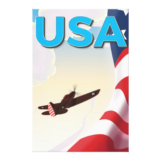 Affisch för USA vintagevärldskrig två Canvastryck