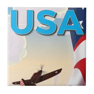 Affisch för USA vintagevärldskrig två Liten Kakelplatta