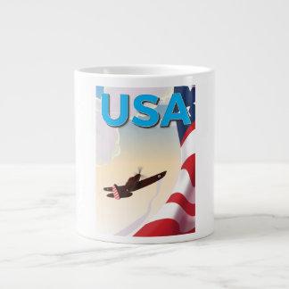 Affisch för USA vintagevärldskrig två Jumbo Mugg
