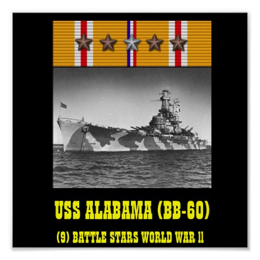 AFFISCH FÖR USS ALABAMA (BB-60)