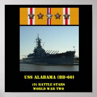 AFFISCH FÖR USS ALABAMA BB-60
