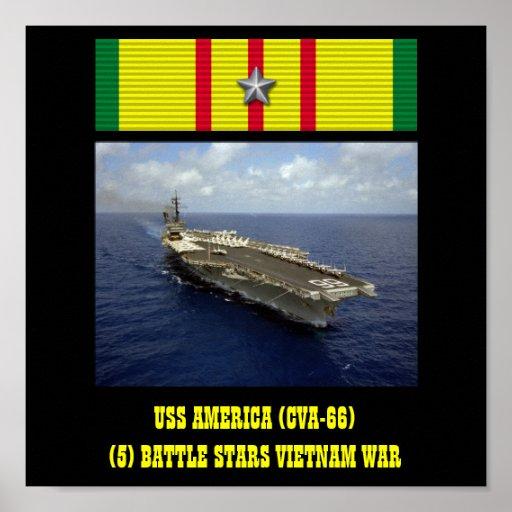 AFFISCH FÖR USS AMERIKA (CVA-66)