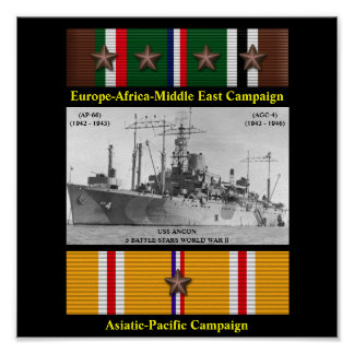 AFFISCH FÖR USS-ANCON (AP-66) (AGC-4)