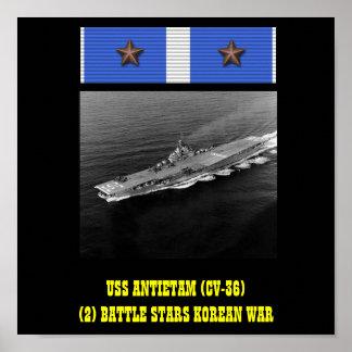 AFFISCH FÖR USS ANTIETAM (CV-36)