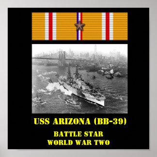 AFFISCH FÖR USS ARIZONA (BB-39)