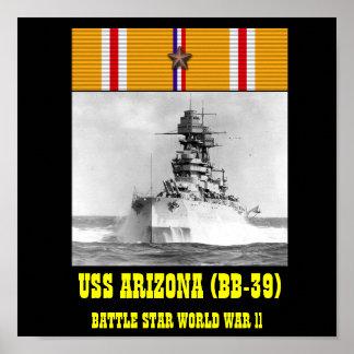 AFFISCH FÖR USS ARIZONA BB-39