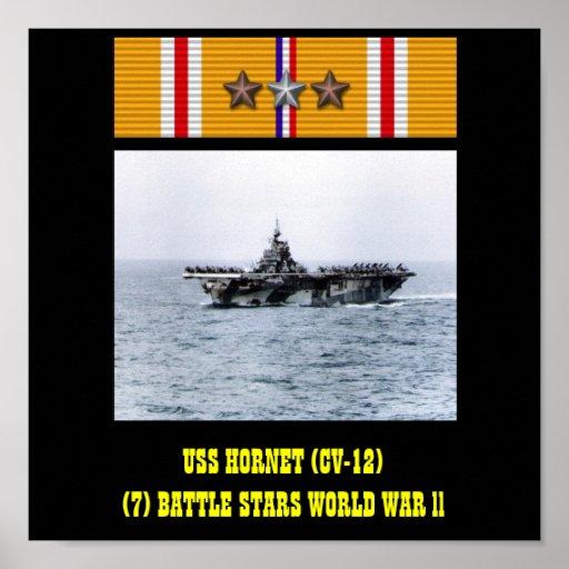 AFFISCH FÖR USS-BÅLGETING (CV-12)