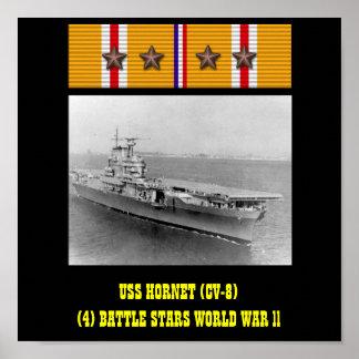 AFFISCH FÖR USS-BÅLGETING (CV-8)