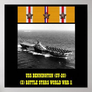 AFFISCH FÖR USS BENNINGTON (CV-20)