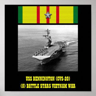 AFFISCH FÖR USS BENNINGTON (CVS-20)