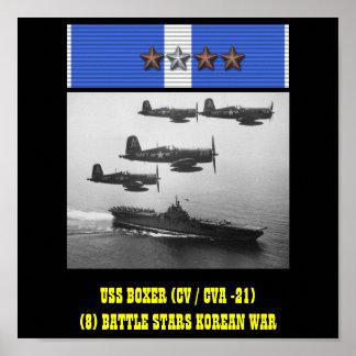 AFFISCH FÖR USS-BOXARE (CV/CVA -21)