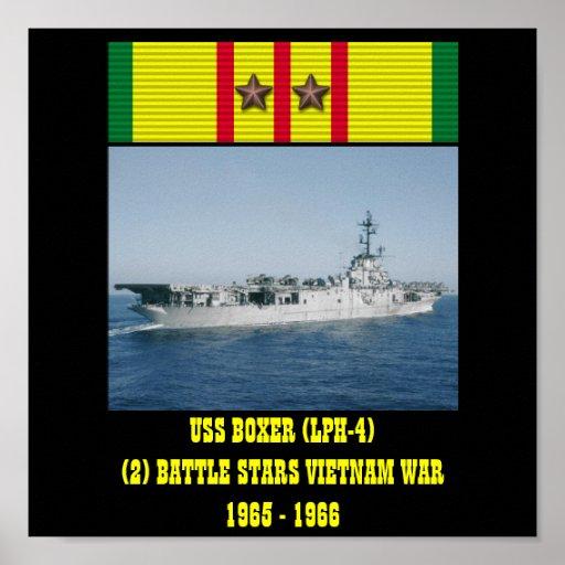 AFFISCH FÖR USS-BOXARE (LPH-4)