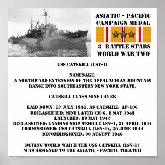AFFISCH FÖR USS CATSKILL (LSV-1)