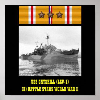 AFFISCH FÖR USS CATSKILL LSV-1
