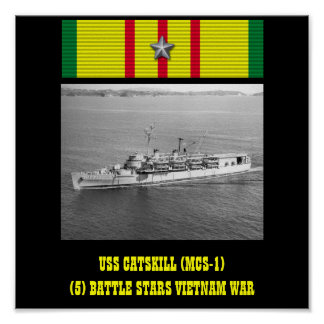 AFFISCH FÖR USS CATSKILL MCS-1