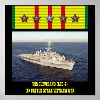 AFFISCH FÖR USS CLEVELAND (LPD-7)