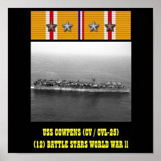 AFFISCH FÖR USS COWPENS (CV/CVL-25)