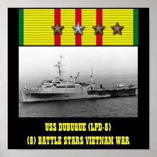AFFISCH FÖR USS DUBUQUE (LPD-8)