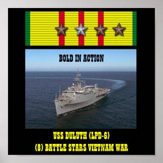 AFFISCH FÖR USS DULUTH (LPD-6)