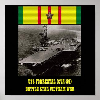 AFFISCH FÖR USS FORRESTAL (CVA-59)