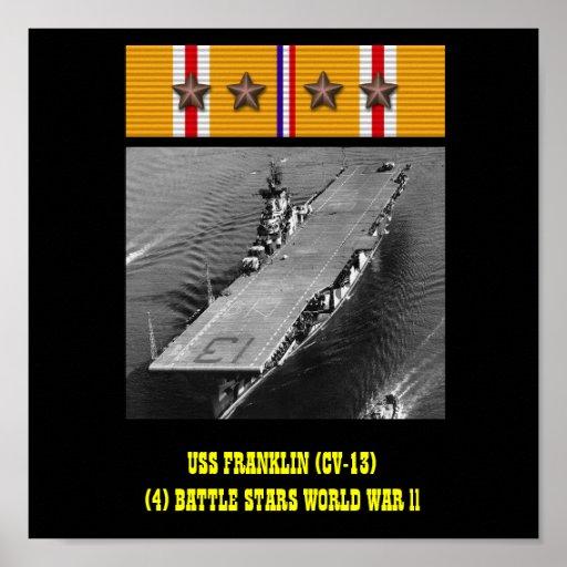 AFFISCH FÖR USS FRANKLIN (CV-13)