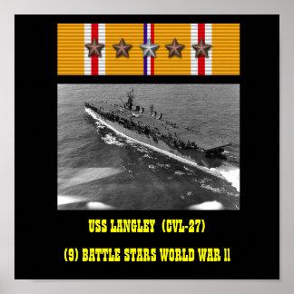 AFFISCH FÖR USS-LANGLEY (CVL-27)