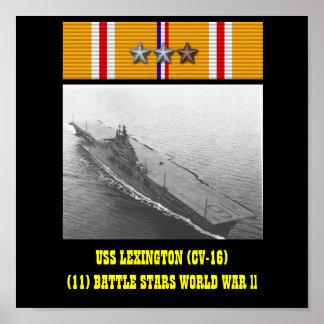 AFFISCH FÖR USS LEXINGTON (CV-16)