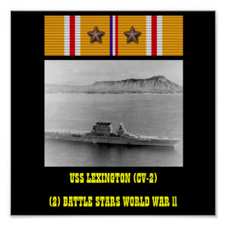 AFFISCH FÖR USS LEXINGTON (CV-2)