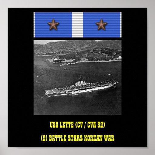 AFFISCH FÖR USS LEYTE (CV/CVA 32)