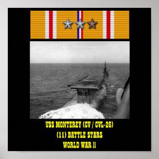 AFFISCH FÖR USS MONTEREY (CV/CVL-26)