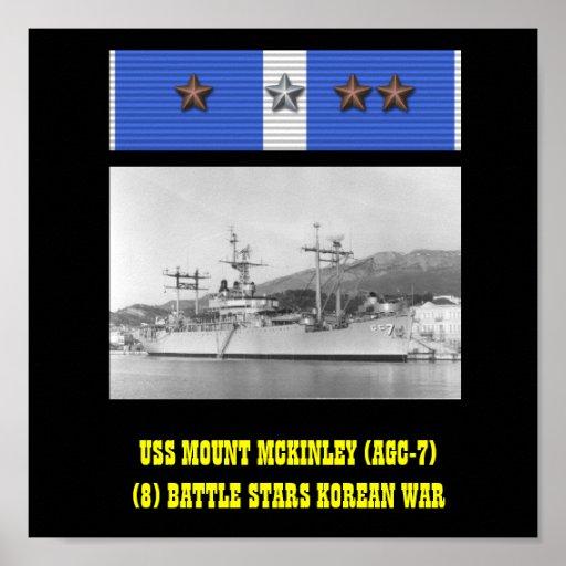 AFFISCH FÖR USS MOUNT MCKINLEY (AGC-7)