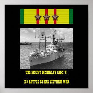 AFFISCH FÖR USS MOUNT MCKINLEY AGC-7