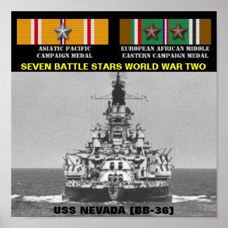 AFFISCH FÖR USS NEVADA (BB-36   )