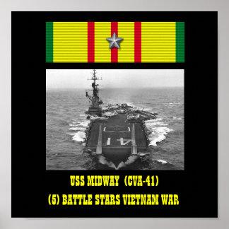 AFFISCH FÖR USS-NÖJESGATA CVA-41