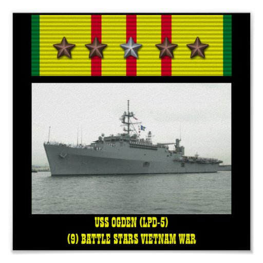 AFFISCH FÖR USS-OGDEN (LPD-5)