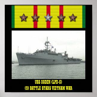 AFFISCH FÖR USS-OGDEN LPD-5