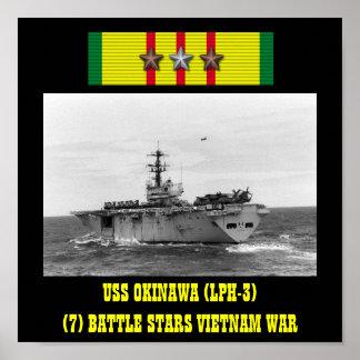 AFFISCH FÖR USS OKINAWA LPH-3