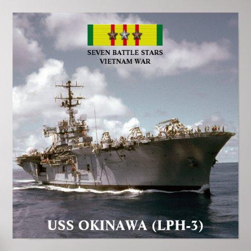AFFISCH FÖR USS OKINAWA (LPH-3)